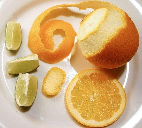 Décoration citrus pour cocktails